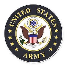 Army-Emblem-3X-Blue.gif Round Car Magnet