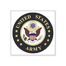 "Army-Emblem-3X-Blue.gif Square Sticker 3"" x 3"""