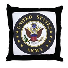 Army-Emblem-3X-Blue.gif Throw Pillow