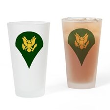 Army-Spec4-Dark-Shirt-3 Drinking Glass