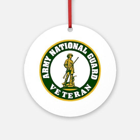 ARNG-Veteran-3-Green.gif Round Ornament