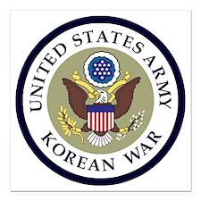 """ARMY-Korean-War-Veteran- Square Car Magnet 3"""" x 3"""""""