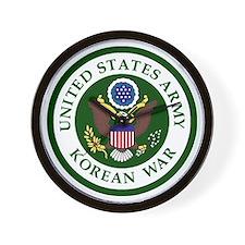 ARMY-Korean-War-Veteran-Bonnie.gif Wall Clock