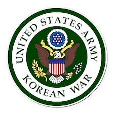 ARMY-Korean-War-Veteran-Bonnie.gi Round Car Magnet