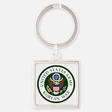 ARMY-Korean-War-Veteran-Bonnie.gif Square Keychain
