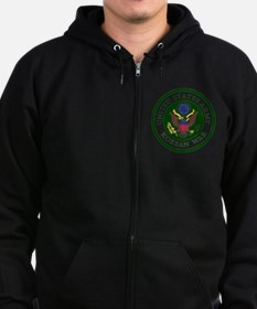 ARMY-Korean-War-Veteran-Bonnie.g Zip Hoodie (dark)