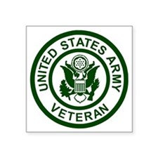 "3-Army-Veteran-Army-Green.g Square Sticker 3"" x 3"""