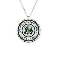3-Army-Veteran-Army-Green.gi Necklace Circle Charm