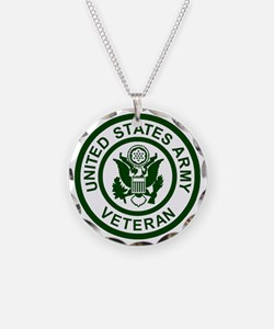 3-Army-Veteran-Army-Green.gi Necklace Circle Charm
