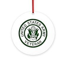 3-Army-Veteran-Army-Green.gif Round Ornament