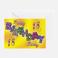 18th Birthday party invitation Greeting Card