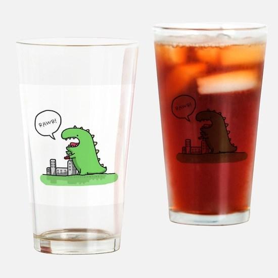 Rawr Drinking Glass