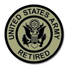 Army-Retired-Subdued-2.gif Round Car Magnet