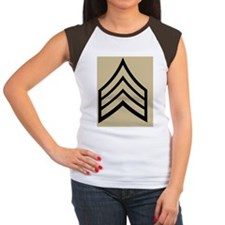 Army-SGT-WWII-Tile-2.gi Women's Cap Sleeve T-Shirt