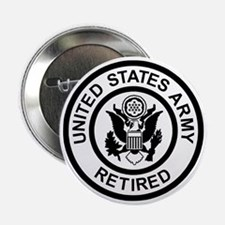 "Army-Retired-Black-White.gif 2.25"" Button"