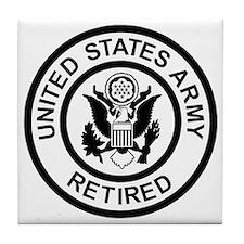 Army-Retired-Black-White.gif Tile Coaster