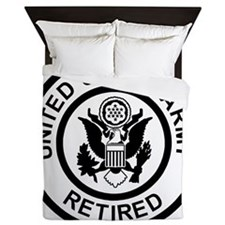 Army-Retired-Black-White.gif Queen Duvet