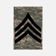 Army-SGT-Subdued-Sticker-4 Rectangle Magnet