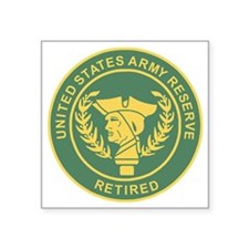 "3-USAR-Retired-MP-Colors.gi Square Sticker 3"" x 3"""