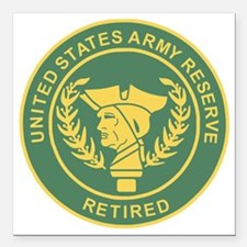 """3-USAR-Retired-MP-Colors Square Car Magnet 3"""" x 3"""""""