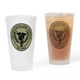 Army reserve retired Pint Glasses