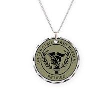 3-USAR-Retired-Black-On-Oliv Necklace