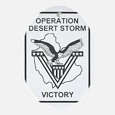 Operation-Desert-Storm-7-Green.gif Oval Ornament