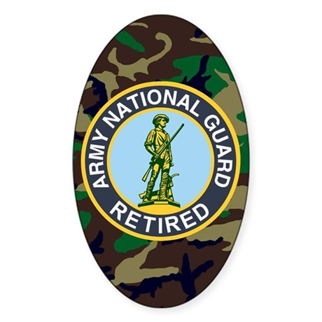 3-ARNG-Retired-Journal-Woodland Sticker (Oval)
