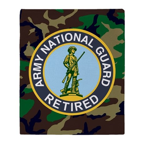 3-ARNG-Retired-Journal-Woodland Throw Blanket