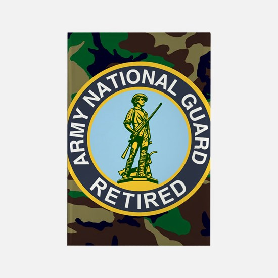 ARNG-Retired-Mousepad-Woodland Rectangle Magnet