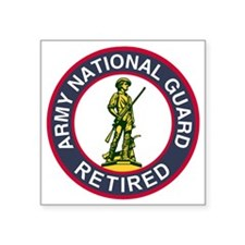 "ARNG-Retired-Red-Blue.gif Square Sticker 3"" x 3"""
