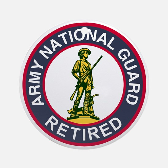 ARNG-Retired-Red-Blue.gif Round Ornament