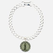 ARNG-Retired-Black-Green Charm Bracelet, One Charm