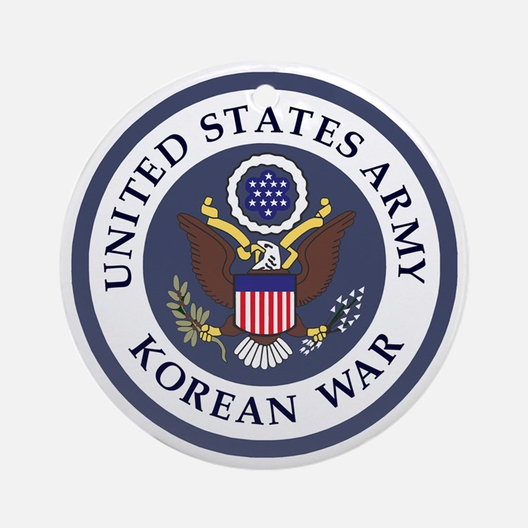 ARMY-Korean-War-Veteran-Bonnie-3.gi Round Ornament