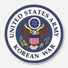 ARMY-Korean-War-Veteran-Bonnie-3. Round Car Magnet