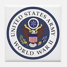 ARMY-WWII-Veteran-Bonnie-3.gif Tile Coaster