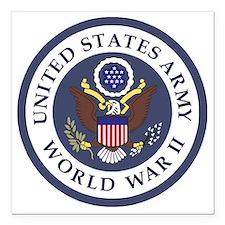 "ARMY-WWII-Veteran-Bonnie Square Car Magnet 3"" x 3"""