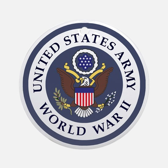 ARMY-WWII-Veteran-Bonnie-3.gif Round Ornament