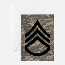 Army-SSG-Subdued-Magnet-3 Greeting Card
