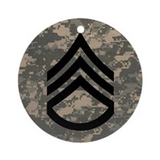 Army-SSG-Subdued-Tile-ACU Round Ornament