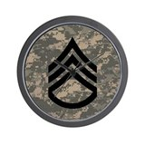 Army rank insignia Wall Clocks