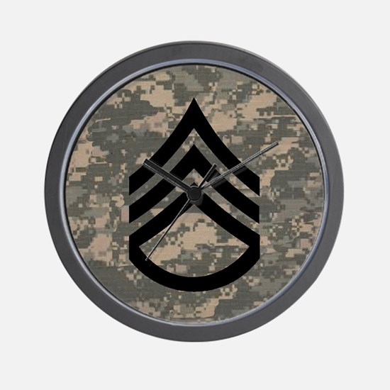 Army-SSG-Subdued-Tile-ACU Wall Clock