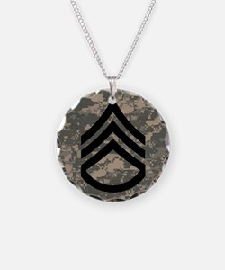 Army-SSG-Subdued-Tile-ACU Necklace Circle Charm