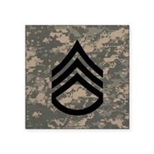 "Army-SSG-Subdued-Tile-ACU Square Sticker 3"" x 3"""