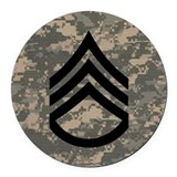 Iraq veteran Round Car Magnets
