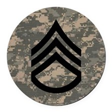 Army-SSG-Subdued-Tile-ACU Round Car Magnet