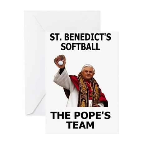 Saint-Benedict-Banner Greeting Card