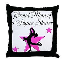 SKATING MOM Throw Pillow