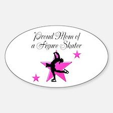 SKATING MOM Sticker (Oval)