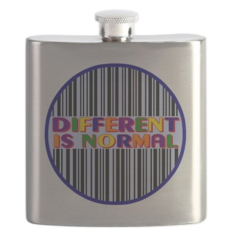 2-Different-Is-Normal-Bars Flask